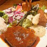 104716038 - 菜園プレート(スープ・ドリンク付)¥1760
