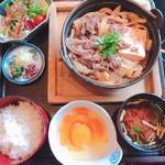 肉の杉本 味散歩 - 国産牛寿き鍋膳
