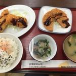 港北食堂 - 三品定食(ミックスフライにアレンジ)