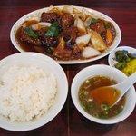 レストラン・ドウ・花井 - 酢豚&ライス(スープ付)