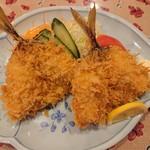 恵比寿茶屋 - 料理写真:2019年3月 活き鯵フライ単品 1400円+税