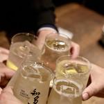 餃子とスパークリング バブルス - 知多ハイボールで乾杯〜♪