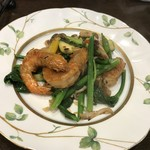 Chuugokuryouritambo - 天使のエビと牡蠣と野菜のXO醤炒め
