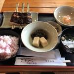 いちかわ - 料理写真:木の芽田楽定食を桜ご飯で♪