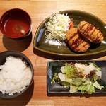 ぶつぎりたんちゃん - 牛タンコロッケ定食