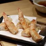 天ぷらと日本酒 明日源 - ぴんく海老天