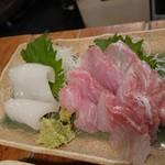 魚寅食堂 - スミイカとクエ