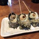 伊豆高原ビール本店レストラン - さざえの壷焼き 180円(1個)