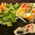 ビストロROVEN - テリーヌとサラダ