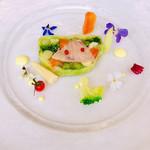 レストラン ペタル ドゥ サクラ - 鰆と野菜のテリーヌ