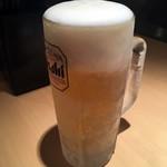 六本木 百鳥 - 「生ビール」278円也。