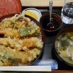 あたご食堂 - 天丼(大盛)