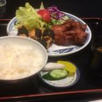 鳥栄 - 料理写真:磯辺揚げと唐揚げのミックスセット
