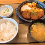 やよい軒 - 味噌カツ煮定食