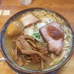 麺屋らいぞう - 超濃厚魚介ソバ(大)+メンマ+味玉
