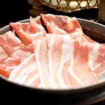 すき焼き 串焼 北斗 - 紅あぐー豚のすき焼き肉