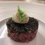 Fine bouche - 熊本産桜肉のタルタル キャビアのせ