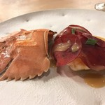 Fine bouche - 島根産のウチワ海老をバターとブランデーのソースで