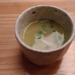 焼とり りりあ - 水炊き① 最初はスープのみいただきます。