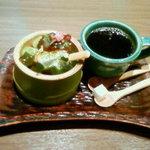 らんちょす - 宇治抹茶パフェとホットコーヒー