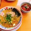 かもめ食堂 - 料理写真:潮ラーメンとミニサーモン丼セット