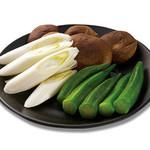 ・選べる焼き野菜3種の盛り合わせ