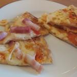 サイゼリヤ - ベーコンのピザ、マルゲリータ