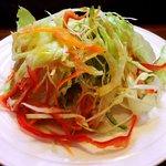 寿司鉄 - 寿司鉄 @平和台 ランチに付くサラダ