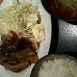 澁家 - 豚生姜焼き定食(800円)