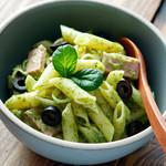 神戸クック・ワールドビュッフェ - 『バジルマカロニサラダ』 爽やかなバジルの香りがしっかりと感じられるサラダです★