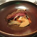 リストランテ カノフィーロ - アイルランド産へアフォード種牛肉パヴェッとのグリーリア