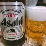 新雪園 - 瓶ビール アサヒスーパードライ 600円