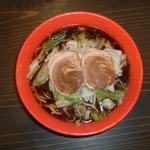 ら~めん工房 海 - 料理写真:キララブラック!がっつり旨!こく深いスープに、超極太もちもち麺!この食感がくせになる!