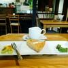コティカフェ - 料理写真:洋なしのタルトケーキセット(800円)