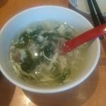 口福館 - ルーロー飯の玉子スープ
