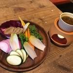 104855626 - こだわり新鮮野菜のバーニャカウダ980円+税
