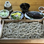 そばやかた樽石 - 板そばとにしんの甘露煮 ¥1100