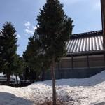 そばやかた樽石 - 残雪