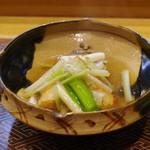 肴とお酒 うを弘 - 油もの:桜鱒、筍、うるい