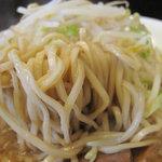 10486347 - 中太麺ですが、ずっしり重くてなかなか引きずりだせません。ウマ重いスープ×ウマ重い麺を時間かかって完食しました。