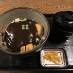 104860393 - ドミグラスソースカツ丼