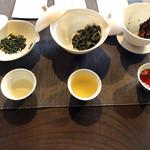 ◯間 - 茶味くらべ3種類 1500円