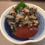 遠山 - すっぽんの酢の物(梅肉和え)