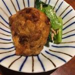 島美人 - 料理写真:付き出しのイカすり身の天ぷら   さつま揚げみたいなん