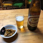 香蘭亭 - 瓶ビールとお通し