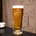 焼肉・にくなべ屋 びいどろ - ☆キリン一番搾り生ビール 500円
