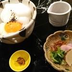 魚貝三昧 げん屋 - 名古屋コーチン 卵かけご飯