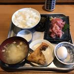 炉ばた焼き 酒肆 大関 - マグロ中落ち定食  900円