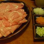 べんけい - ラムしゃぶのお肉と薬味