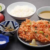 よし川 - 桜えびのかき揚げ定食 1,360円